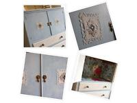 Attractive and practical painted cabinet