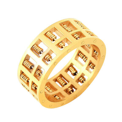Abacus Ring Gold Color for Men Women Maths Number Rotatable Jewelry Gifts