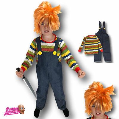 Kinder Jungen Kinder Horror Chucky Puppe Halloween Kostüm Kinder Kostüm - Chucky Kinder Kostüm