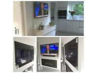 TV WALL MOUNT SERVICE ENGINEER FITTER HANDYMAN BRACKET HDMI & OTHER CABLES SUPPLIED