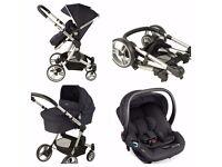 Navy Senses 3 in 1 Baby Couture Pram and Maxi Cosi Car Seat RRP £600!