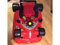 Baby walker red car, only £30 (retail price £49.99) LIKE NEW