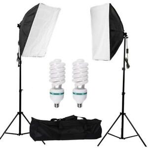 Continuous Lighting Kit / Photo Studio Softbox Set (1 Pack of 2) with 115w Light Bulb - Free Shipping across Canada
