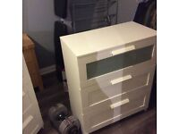 IKEA white dresser and drawers.