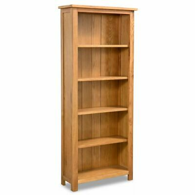 Solid Oak Wood 5-tier Storage Bookcase Book Shelves Cabinets Display Shelf