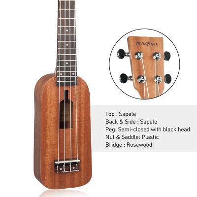 21'' 4-String Sapele Wood Ukulele Mini Ukulele for Beginner Kids Music Gift, used for sale  Shipping to Canada