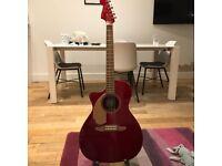 Left handed Fender Newporter guitar