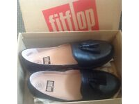 Fitflop black loafer shoes