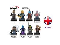Guardians of the galaxy mini figures x8 for lego