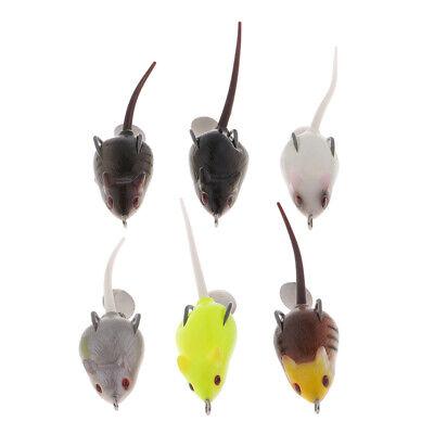 Lake Bait Rat Supplie False Erbium Lifelike Rubber Soft Mouse Fishing Lure 6T
