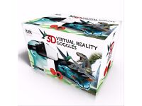 Itek I72005 Virtual Reality 3D Goggles Headset in White............Brand New