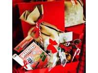 Christmas Eve Sacks handmade and pre-filled with toys, craft, treats and keepsakes.