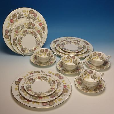 Wedgwood China - Lichfield W4156 - Plates/Cup/Saucer - 4 Place Settings
