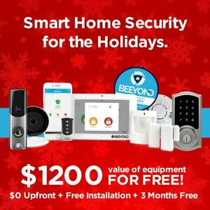 Holiday Offer - Smart Home Security Alarm System - $1200 Value of Free Equipment +  $0 Upfront + 3 Months Free!