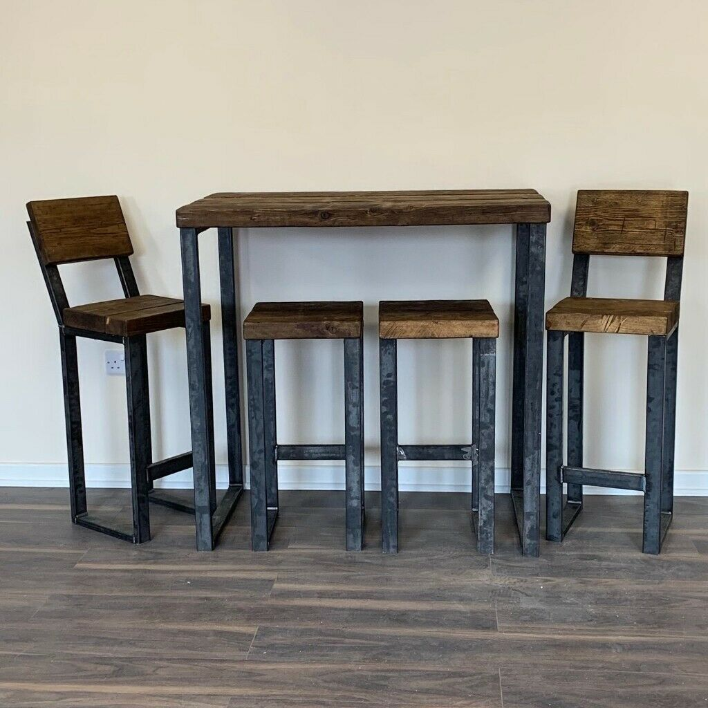 4 Seater Table Set Tall Breakfast Bar Plus 2 Chairs And Stools Handmade In Rotherham South Yorkshire Gumtree