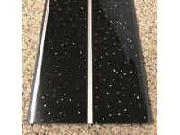 Black Sparkle Chrome PVC Cladding Panels 5mm For Bathrooms Kitchens Clearance (Seconds)