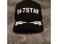 Dsquared 24-7 star black cap brand new with tags