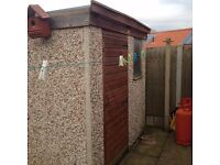 Garden Shed, concrete sectional shed. 8ft x 8ft