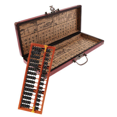 MagiDeal Wooden Abacus 15 Digits Calculating Tool for Children Adults Gift