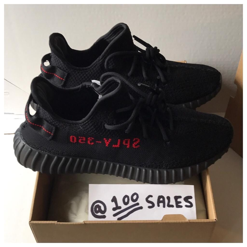 4d6679d4c8a31 Adidas x Kanye West Yeezy Boost 350 V2 Black Red UK10 US10.5 EU44 2 3  CP9652 +SIZE  RECEIPT 100sales