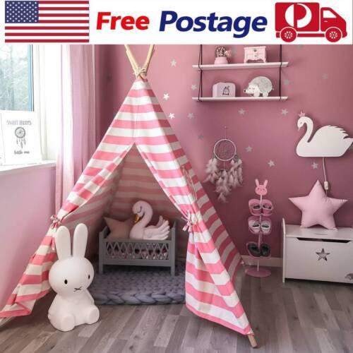 Girls Princess GIANT WIGWAM TEEPEE Canvas Children Play Tent