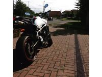 Yamaha fz6 s2 pearl white Ono !!! Very clean .