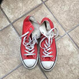 Red high top converse all stars size 9.5 UK £12