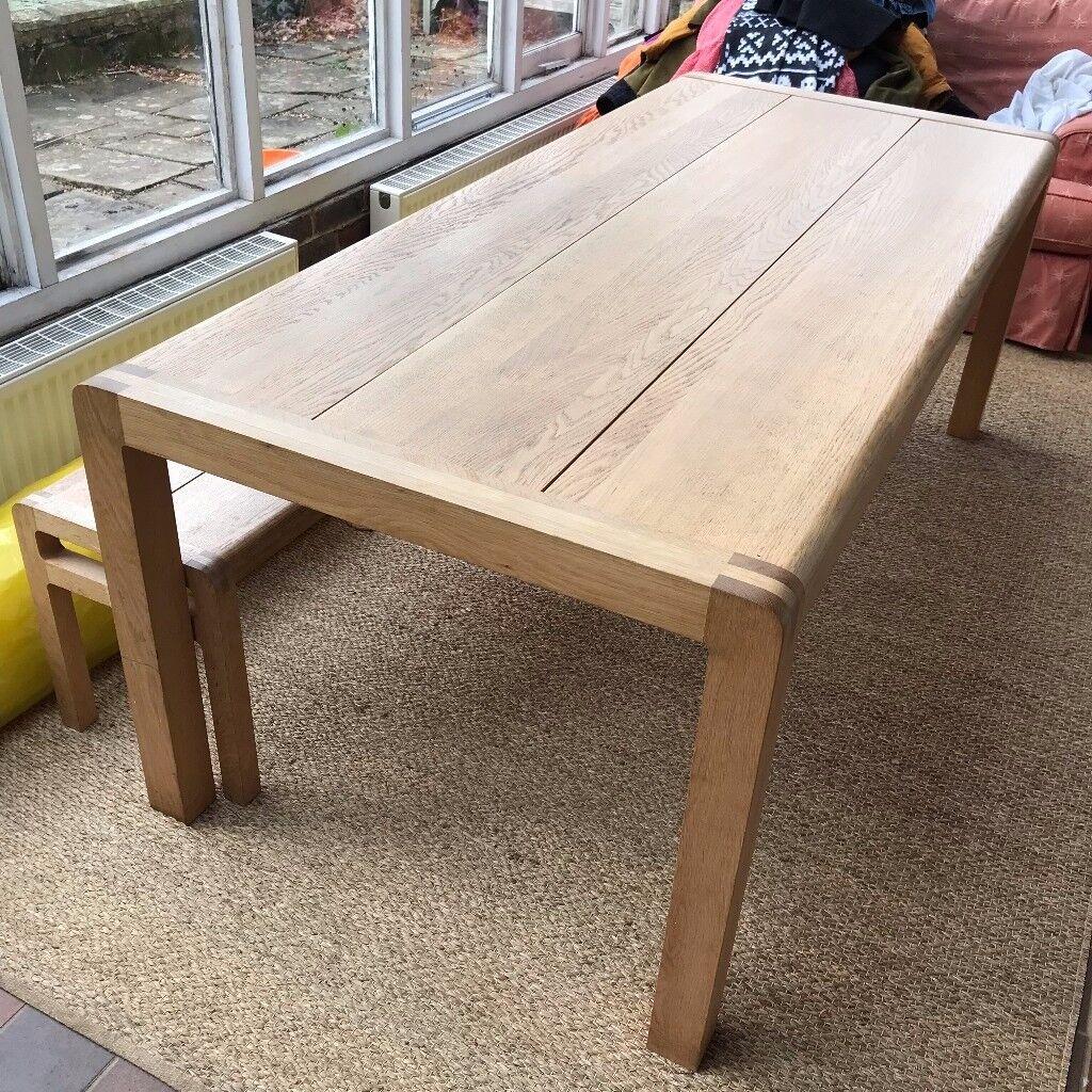 Habitat radius oak dining table in wadhurst east sussex gumtree habitat radius oak dining table geotapseo Gallery