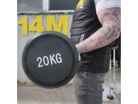 Rubber Coated Barbell - 20kg.