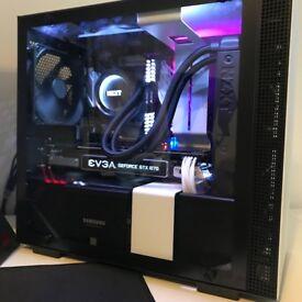Gaming PC i5-8600K EVGA GTX1070 With 240Hz AOC Monitor, Razer Mouse, Corsair K65 Keyboard + More.