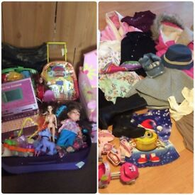 Clothes and toys for a girl 4-6 years old