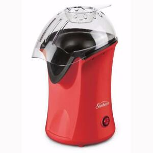 Sunbeam Hot Air Popcorn Maker Red 1200 Watts, 5 Cups