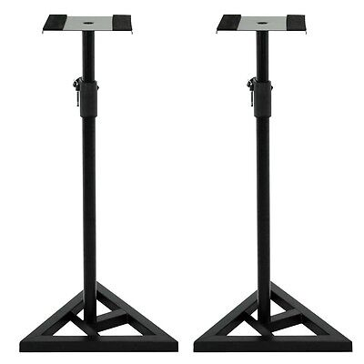 Studio Monitor Speaker Stand Height Adjustable Concert Band Heavy Duty 2 Pair
