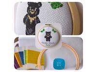 Asiatic Black Bear Cross Stitch Padded Hoop Kit