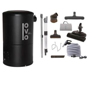 NEW OVO Compact 550 Airwatts Central Vacuum System Power Unit with Carpet Deluxe