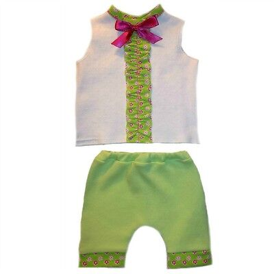 Baby Girls Summertime Flowers Shirt and Shorts Clothes - 4 Preemie Newborn Sizes