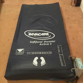 Invacare pressure mattress and pump (including two pressure cushions)