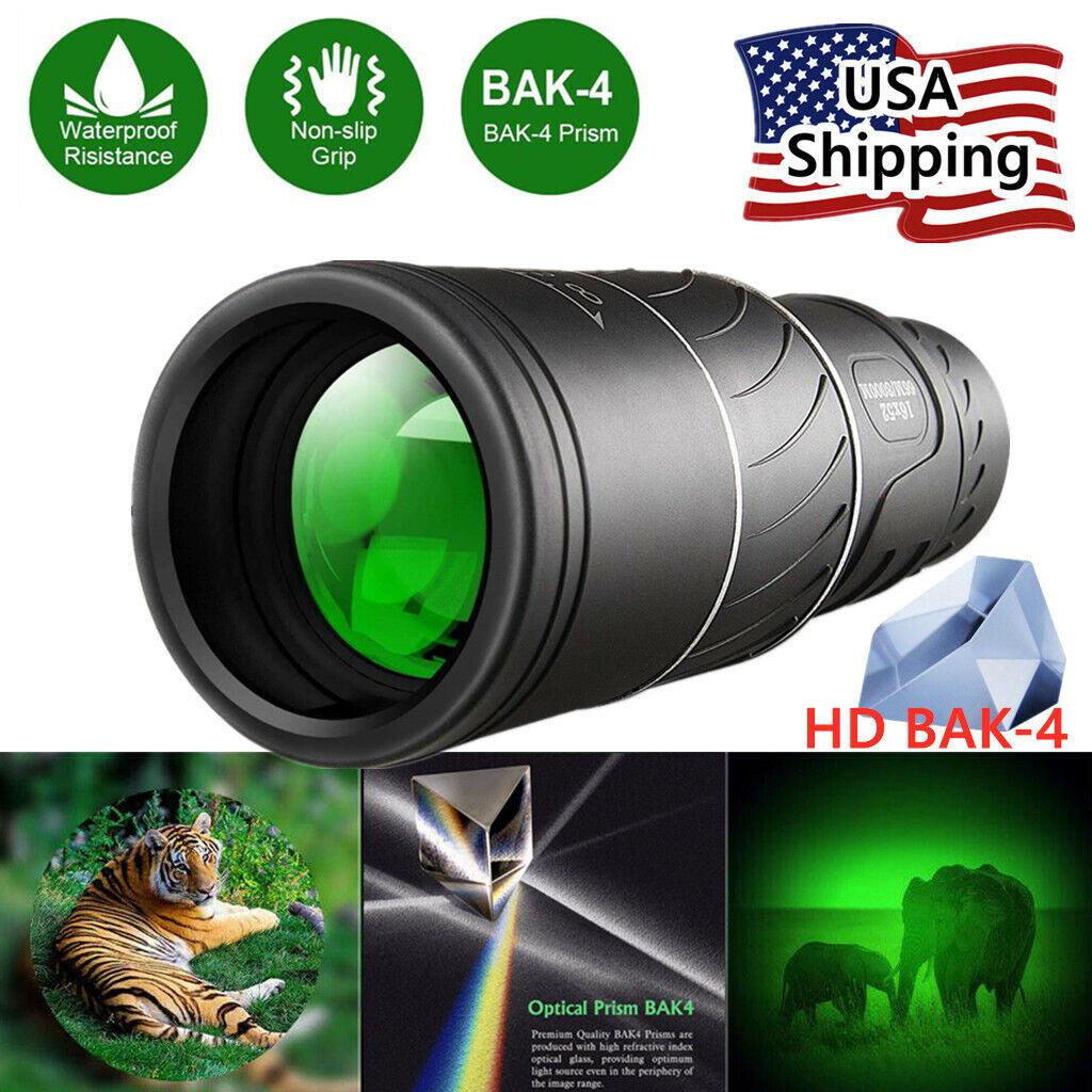 16x52 Binocular Monocular with Night Vision BAK4 Prism Waterproof