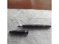 Lovely montblanc meistetstuck fountain pen black resin and gold