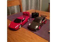 scale model of Ferrari/porsche