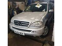 Mercedes ML silver 2002 MOT failure bargain car may break
