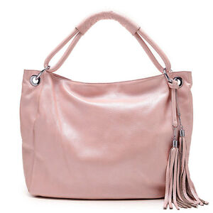11 Colors Genuine Leather Classic Women Handbag Tote Shoulder Bag Purse Satchel