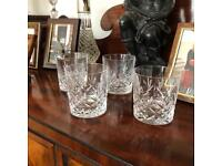 Set of Four Crystal Whisky Tumblers