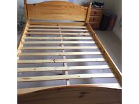 Pine Bed Frame (Double) FREE