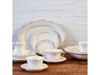 ZARA HOME SCALLOPED EARTHENWARE TABLEWARE Plates, Bowls, Tea Cup Saucer etc