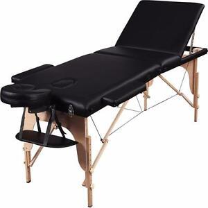 """Table de massage 28"""" 3 sections PORTABLE"""