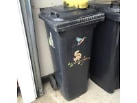 Small black wheelie bin