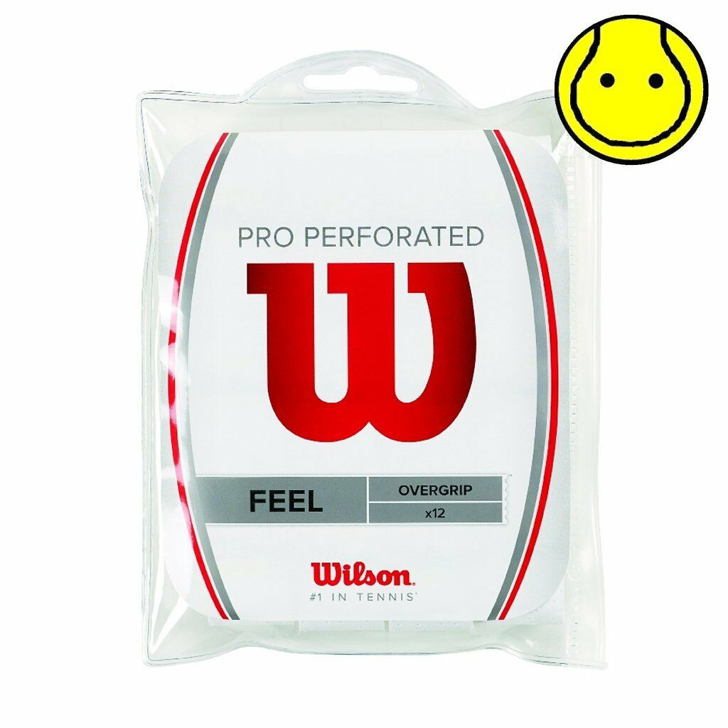New Wilson Pro Overgrip Perforated 12 Pack Tennis Over Grip  White