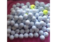 100.MIXED GOLFBALLS IN VERY GOOD CONDITION.
