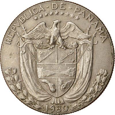 [#765259] Coin, Panama, 1/2 Balboa, 1980, MS, Copper-Nickel Clad Copper, KM:12b